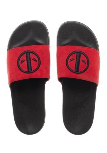 Adult Marvel Deadpool Slide Sandals