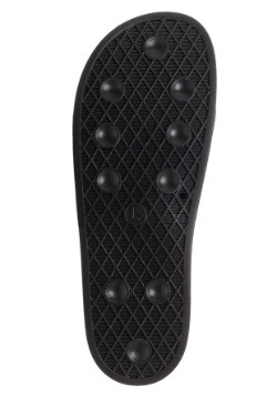 Batman Adult Gold Foil Logo Suede Slide Sandals 2