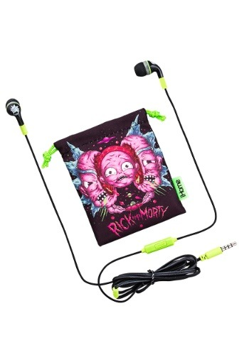 Rick & Morty Earbuds w/ Pouch
