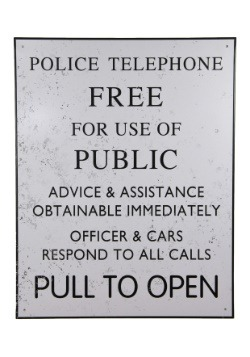 Doctor Who Tardis Police Tin Sign