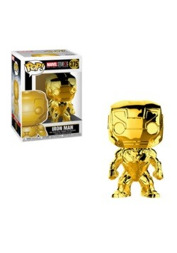 Pop! Marvel Studios 10- Chrome Iron Man