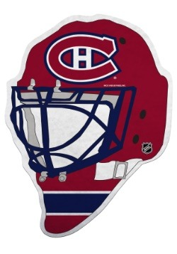 NHL Montreal Canadiens Die Cut Goalie Mask Pennant