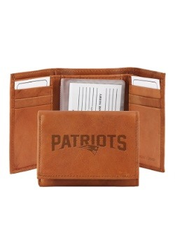 NFL New England Patriots Genuine Leather Tri-Fold Wallet