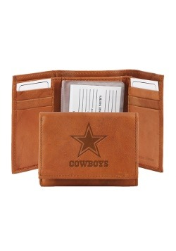 NFL Dallas Cowboys Genuine Leather Tri-Fold Wallet
