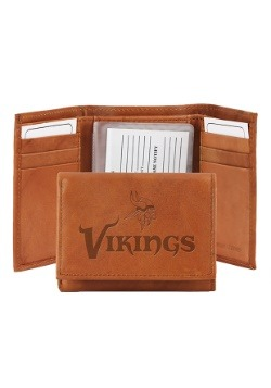 NFL Minnesota Vikings Genuine Leather Tri-Fold Wallet
