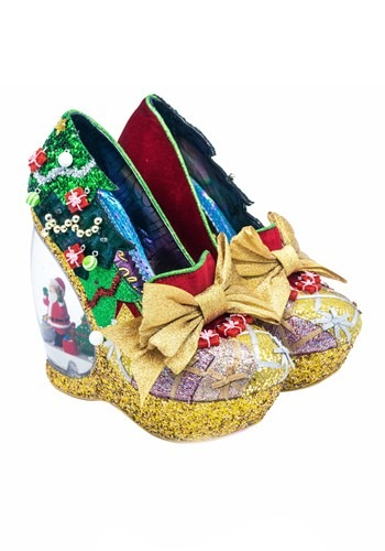 Irregular Choice Women's Santa's Globe Wedge Shoes