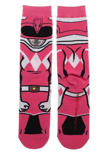 Adult Power Rangers Pink Ranger 360 Character Crew Sock