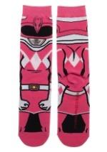 Adult Power Rangers Pink Ranger 360 Character Crew Sock
