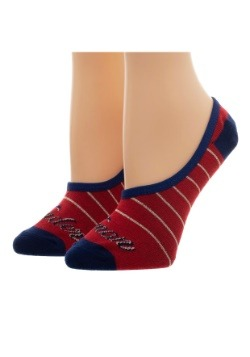 Women's Wonder Woman: 2 Pack No Show Liner Socks