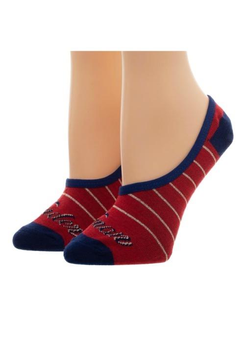 Women's Wonder Woman: 2 Pack No Show Liner Socks