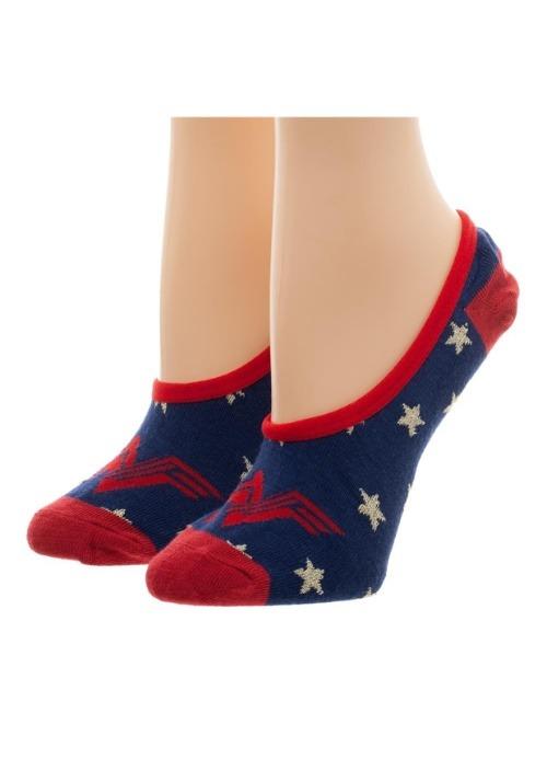 Women's Wonder Woman: 2 Pack No Show Liner Socks4