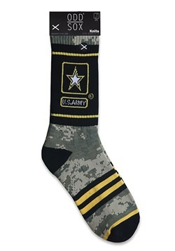 Odd Sox US Army Camo Knit Socks For Adults