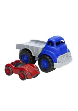 Green Toys Flatbed  with Red Race Car Alt 1