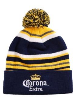 Corona Stripe Adult Pom Beanie