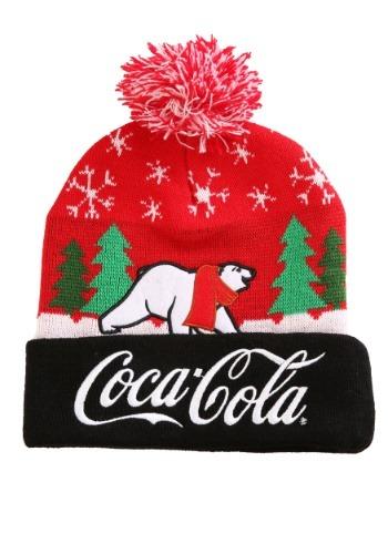 Coca-Cola Intarsia Cuff Pom Beanie