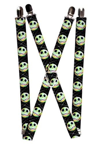Nightmare Before Christmas 1 Inch Jack Glow Suspenders