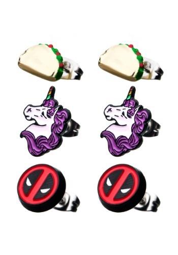 Deadpool 3 Pack Stud Earrings
