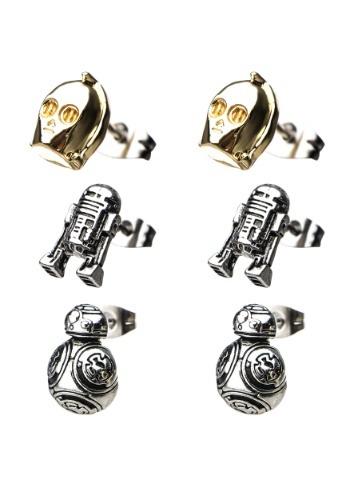 Star Wars Episode 8 Unisex Jewelry BB-8, C-3PO and R2-D2 Stu