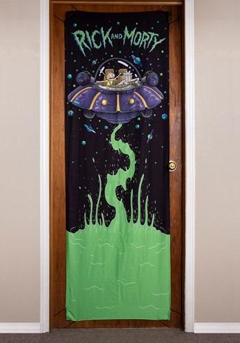 """Rick and Morty Spaceship 26"""" x 78"""" Door Banner"""