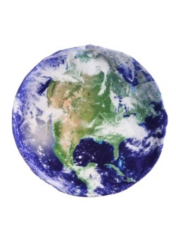 "Photo Realistic Earth 18"" Round Pillow Case1"
