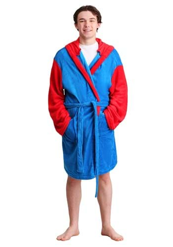 Adult Mario Hooded Bathrobe