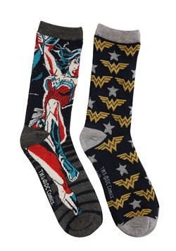 Womens' Wonder Woman 2-Pack Casual Crew Socks