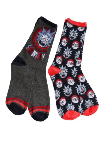 Adult Rick and Morty Navy 2-Pack Crew Socks