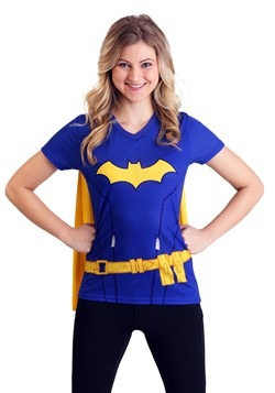 Batgirl Cape Costume T-Shirt For Women
