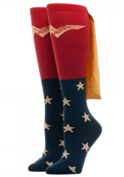 Wonder Woman Movie Caped Knee High Women's Socks
