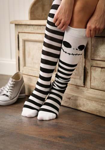 Jack Skellington Over The Knee Womens Socks