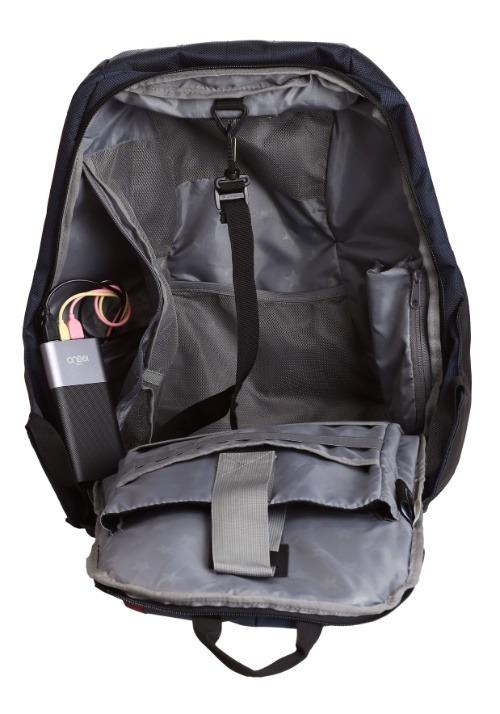 Batman Green EL Lighted 3 Panel Powered Backpack Alt2