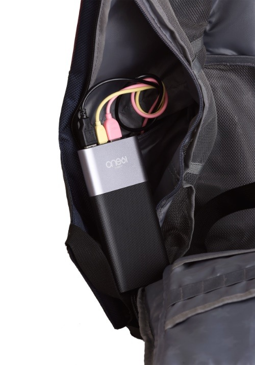 Batman Green EL Lighted 3 Panel Powered Backpack Alt3