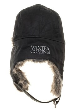 Game of Thrones House Stark Faux Fur Trapper Winter Cap Back