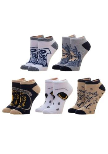 Junior's Harry Potter 5 Pack Ankle Socks