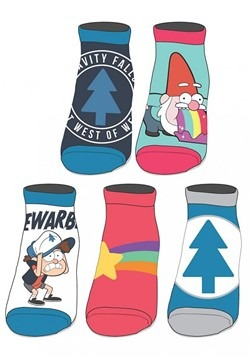 Gravity Falls 5 Pack Ankle Socks