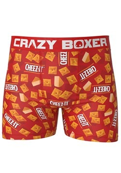 Men's Crazy Boxers Cheez-It All Over Print Red Boxer Briefs