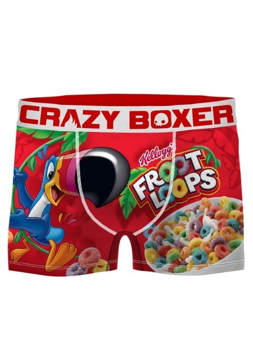 Men's Crazy Boxers Froot Loops Red/White Boxer Briefs