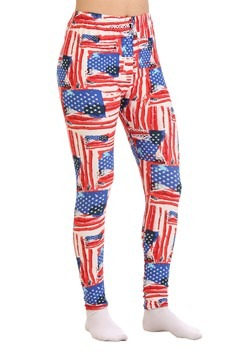Two Left Feet Women's All-American Flag Print Leggings
