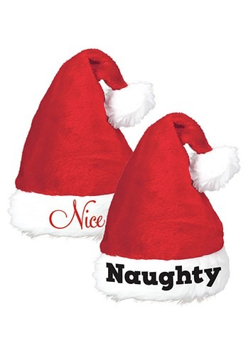 Santa Hats Naughty and Nice - Set of Two