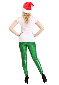 Tipsy Elves Women's Green Sequin Leggings