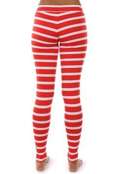 Women's Tipsy Elves Red Stripe Leggings