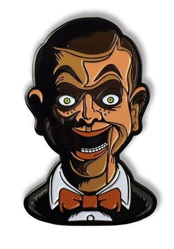 Enamel Goosebumps Living Dummy Pin