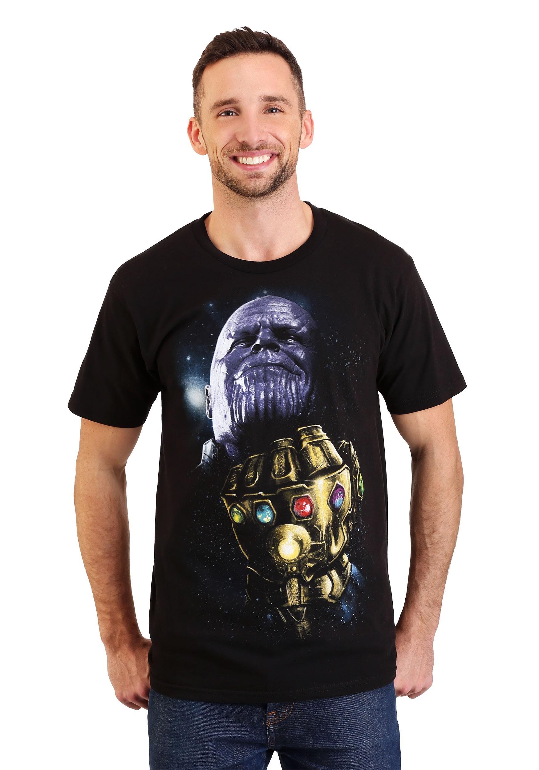 Thanos Infinity Stones Men/'s Black T-Shirt