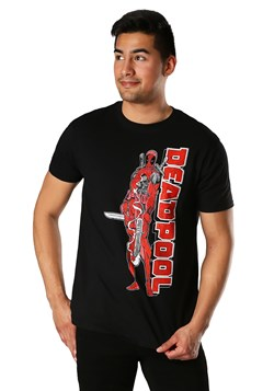 Men's 90s Classic Deadpool Black T-Shirt