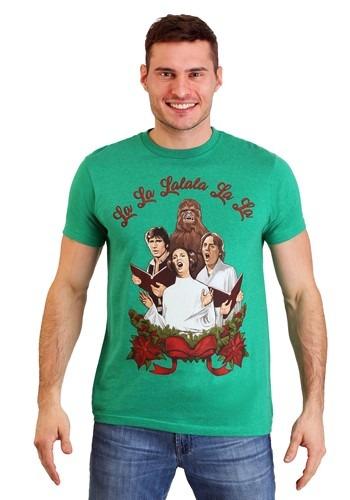 Men's Star Wars Rebel Carolers Green Heather T-Shirt