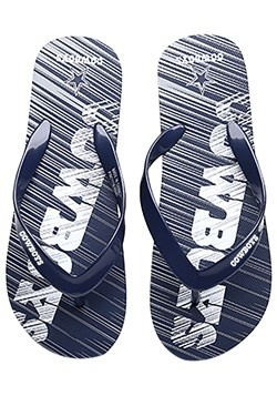 NFL Dallas Cowboys Diagonal Stripe Fade Unisex Flip Flops Al