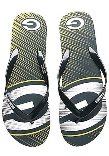 Green Bay Packers Diagonal Stripe Unisex Flip Flop