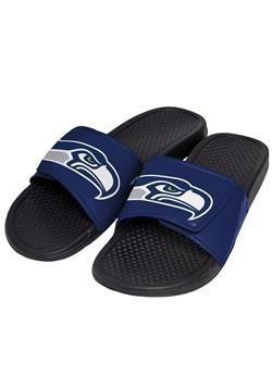 Seahawks Cropped Big Logo Slide Mens Flip Flop