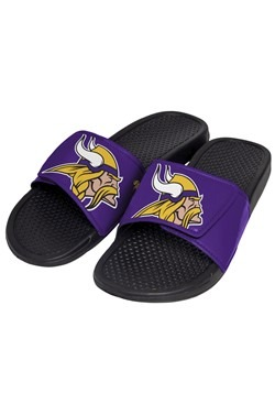 Minnesota Vikings Cropped Big Logo Slide Men's Flip Flop