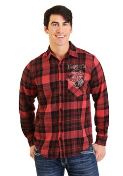Men's Harry Potter Hogwarts Flannel Shirt